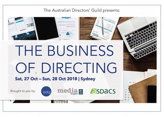 The ADG Presents: The Business of Directing Workshop Sydney